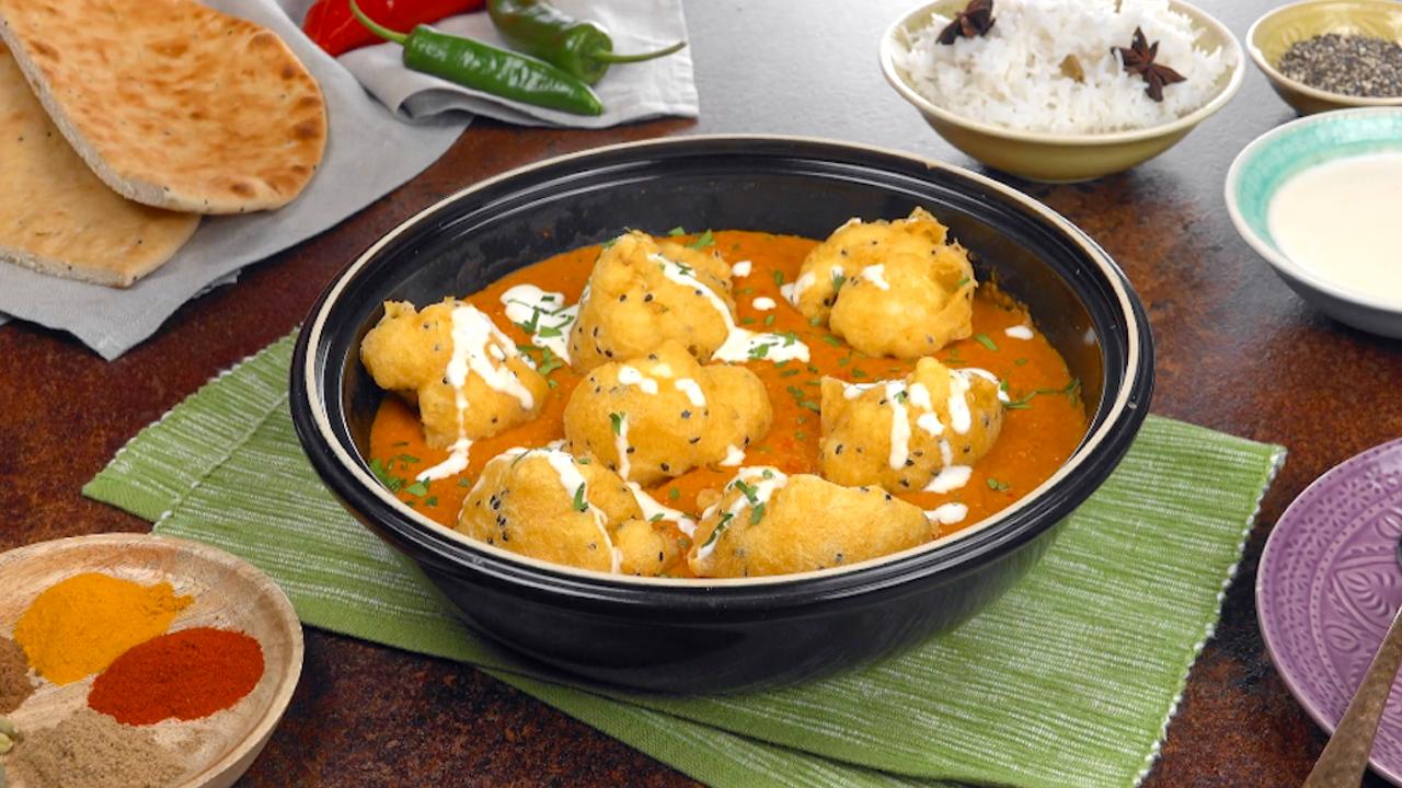 Vegetarisches Chicken Tikka Masala mit Blumenkohl und Cashew-Creme