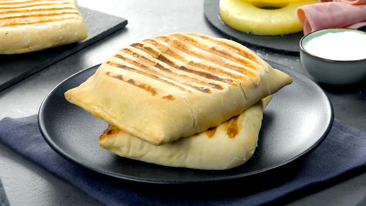 Gefüllter Toast-Hawaii ohne Toastbrot