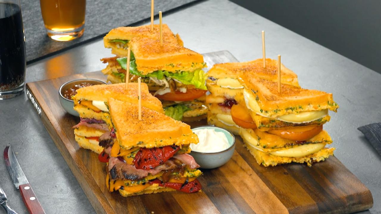 3 außergewöhnliche Rezepte für ein Sandwich in XXL-Format