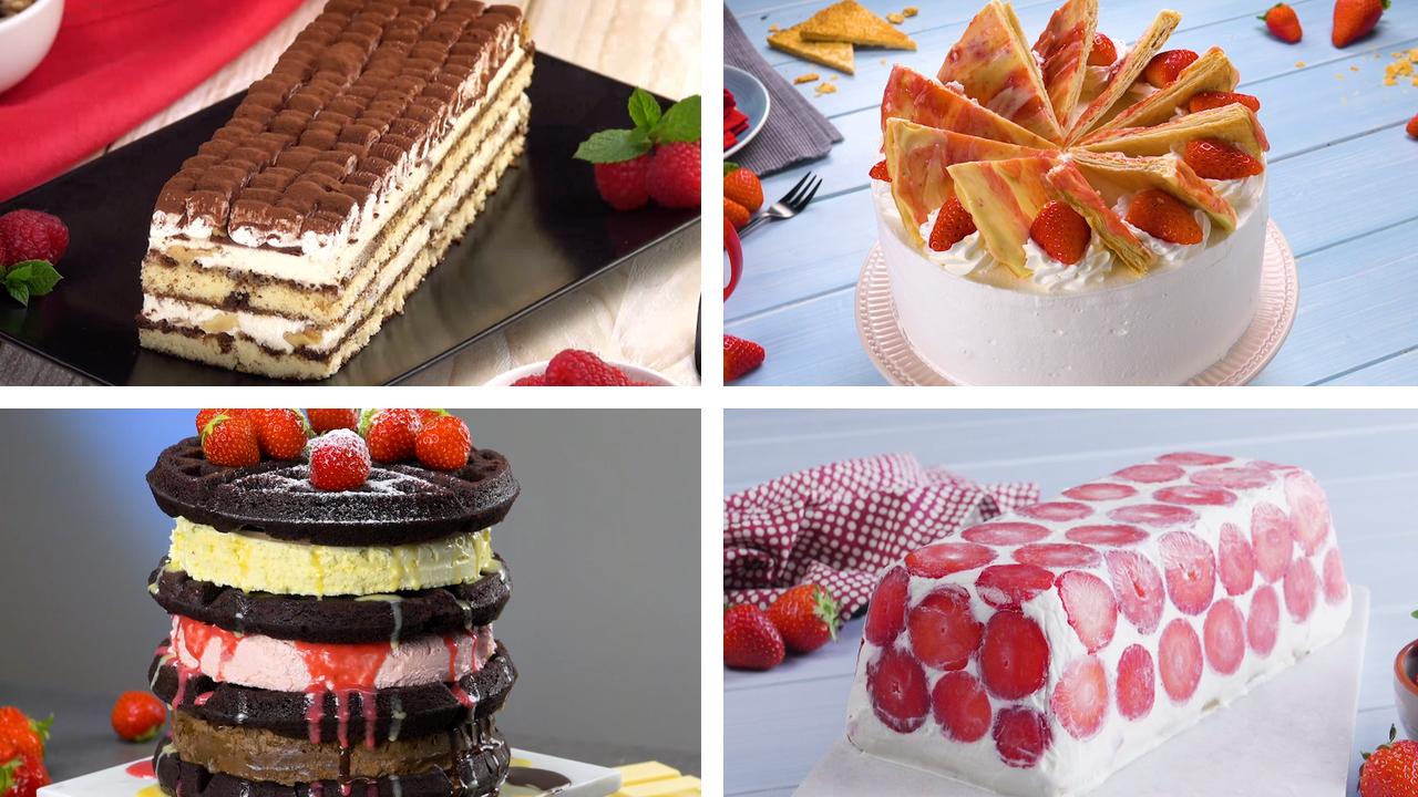 6 erfrischende Kuchen mit Eiscreme | Eistorte | Eiskuchen