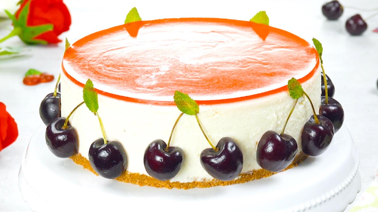 KiBa Kuchen | Mit Frischkäsecreme, Keksboden und Gelee