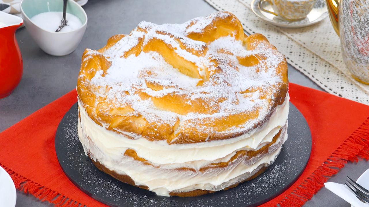 Puddingkuchen aus Brandteig und Vanillepudding | Karpatka