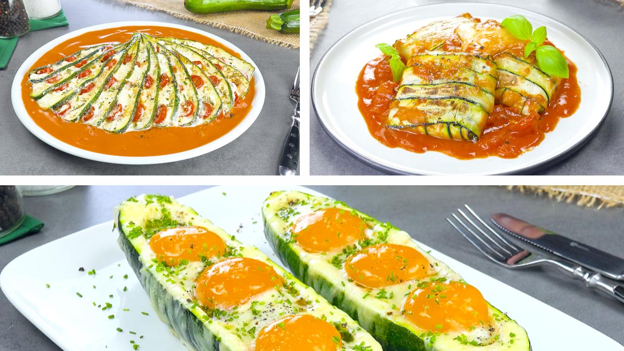 3 tolle Ideen für gefüllte Zucchini | Rezepte mit Zucchini