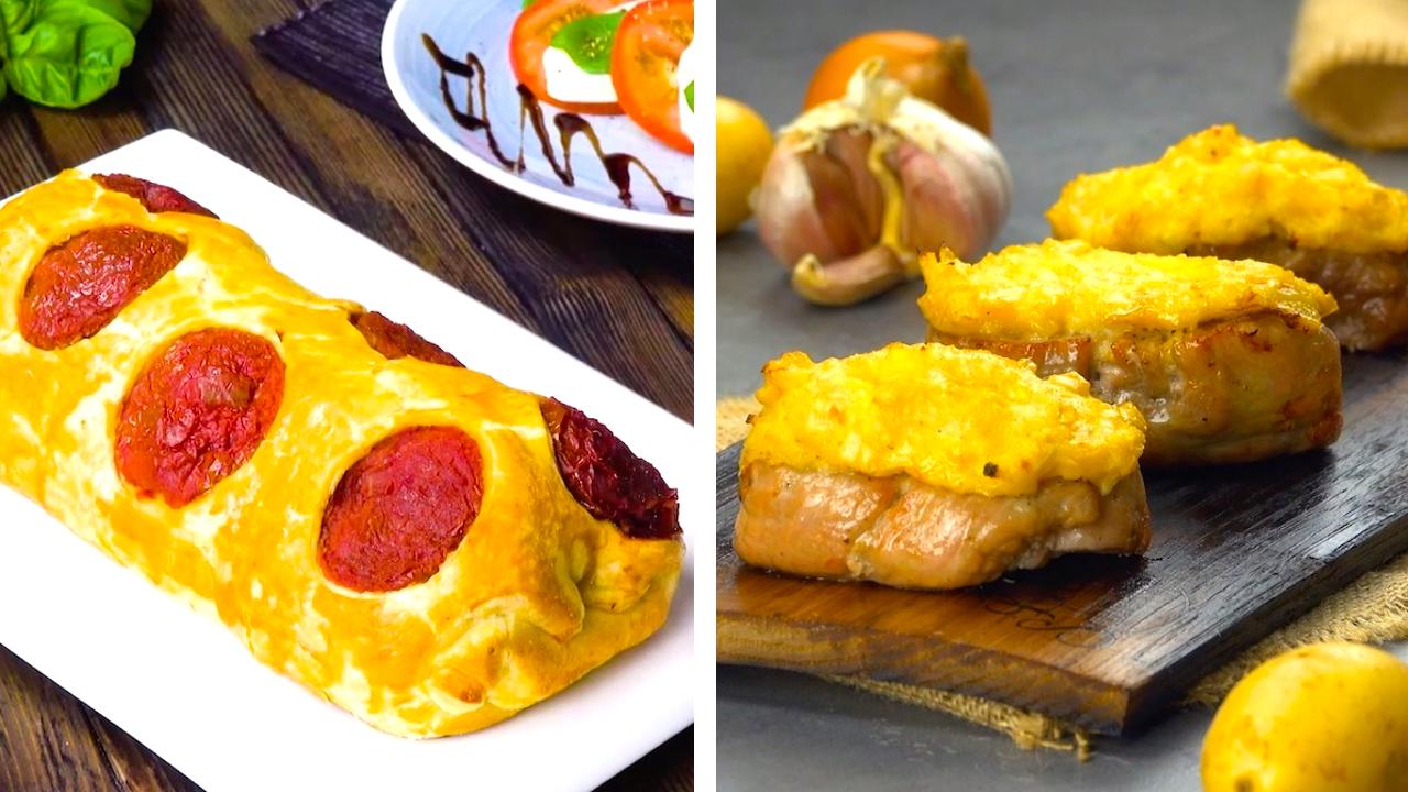 Gerolltes Filet Mignon | Gegrilltes Schweinefilet mit Frischkäse-Kartoffel-Kruste