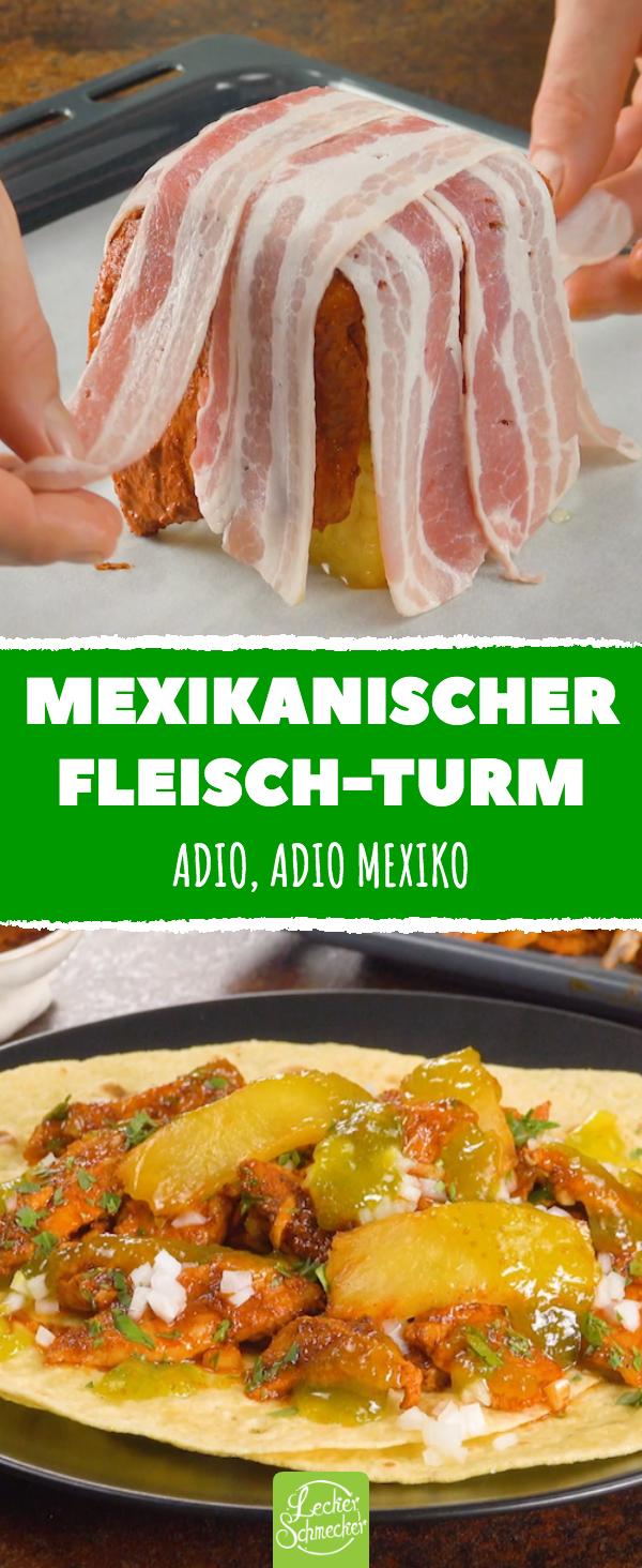 Mexikanischer Fleischturm mit fruchtigem Kern