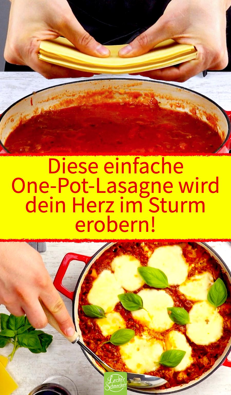 One pot Lasagne bolognese – einfacher geht's nicht!