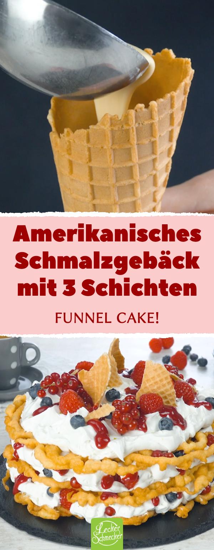 Funnel Cake mit Kokoscreme und Beeren | Schmalzgebäck