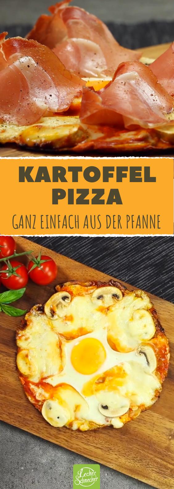 Bratkartoffel trifft auf Pizza. Das Ergebnis? Saftige Kartoffelpizza!