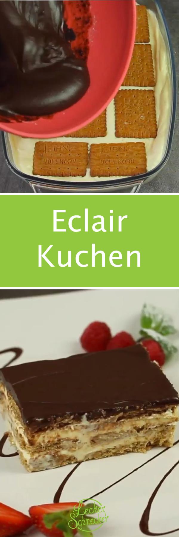 Ein Knaller: Eclair-Kuchen. Ohne Backen!