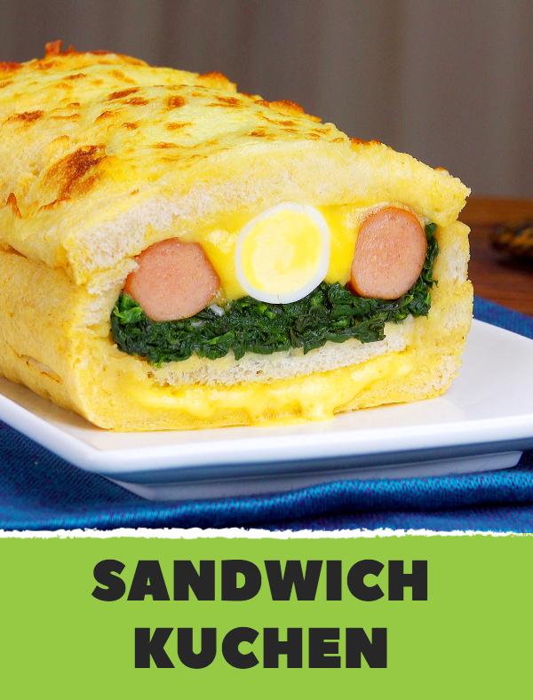 Sandwich Kuchen - ein Knaller Rezept für das Abendessen mit Toastbrot