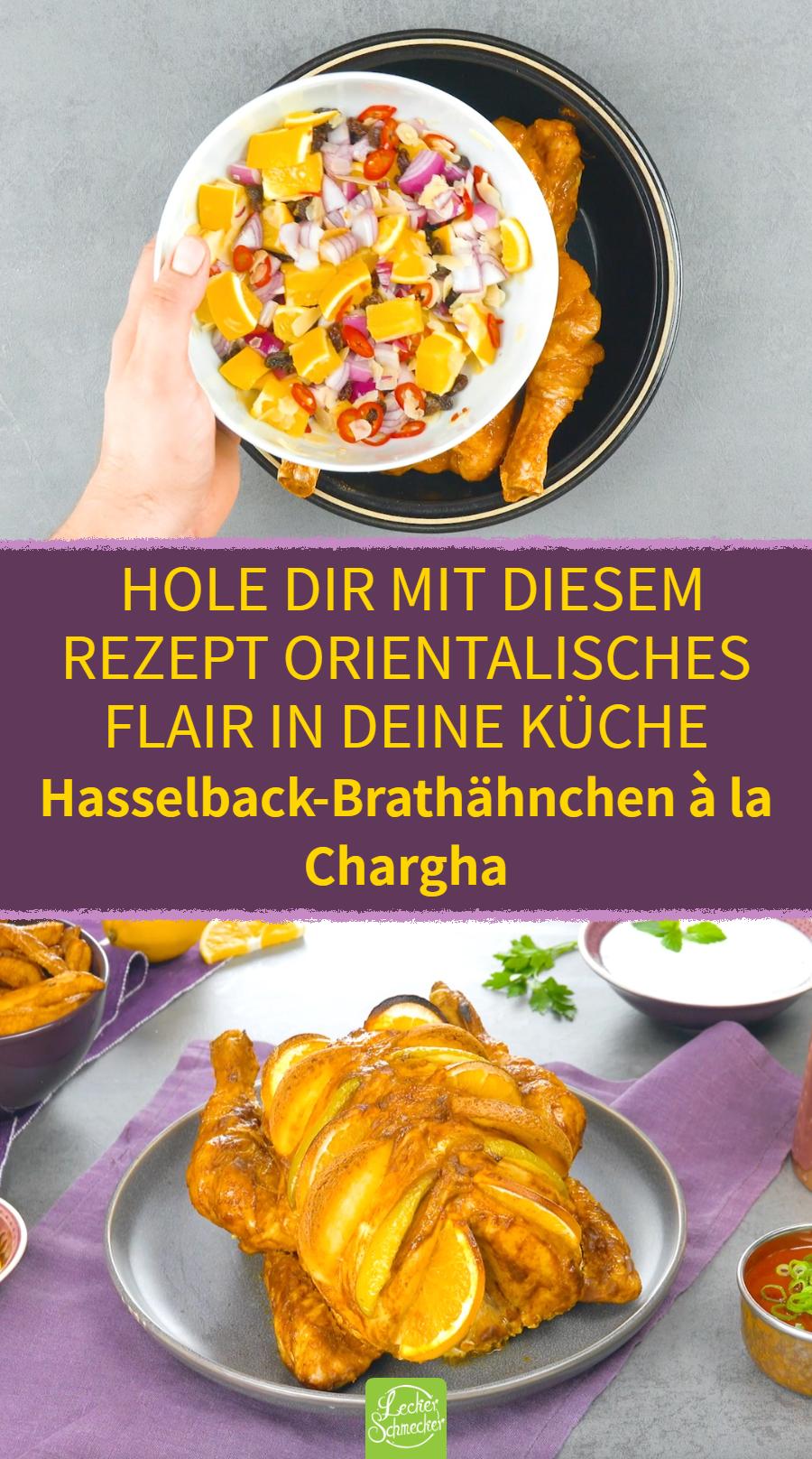 Hasselback-Brathähnchen à la Chargha