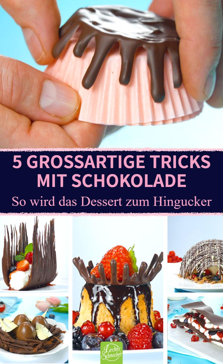 5 großartige Schokoladen-Tricks zum Anbeißen