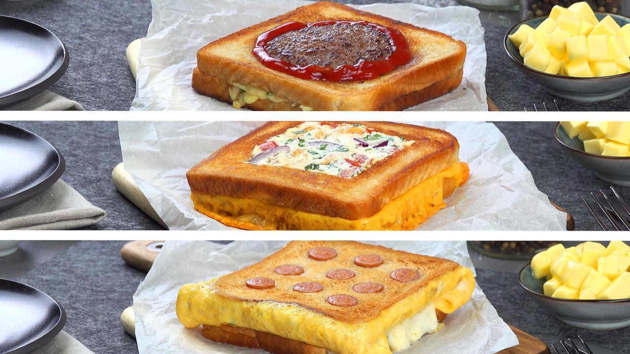 3 schnelle Ideen für Toastbrot | Kreative Sandwiches