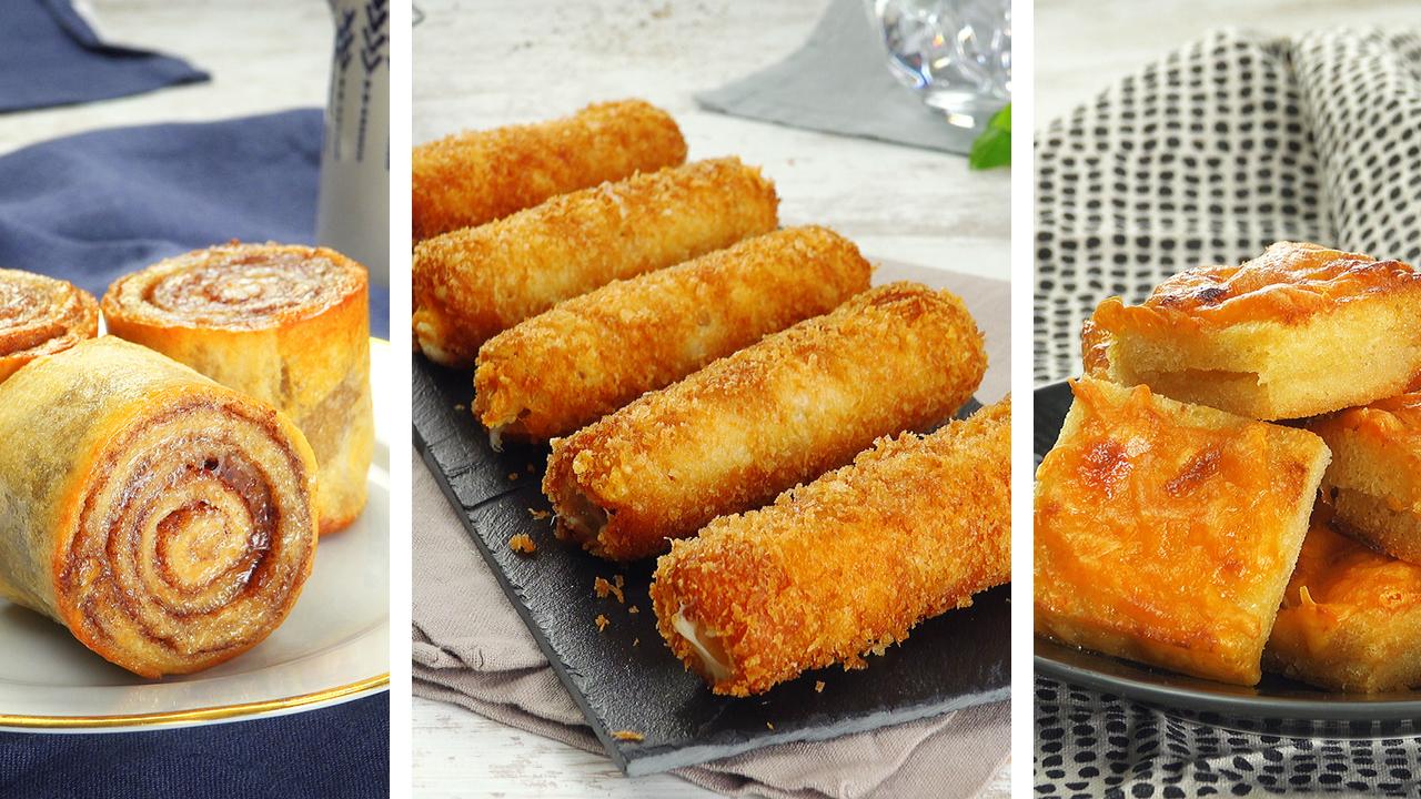 3 einfache Snacks mit Toastbrot | Zimtschnecke und Käsehappen