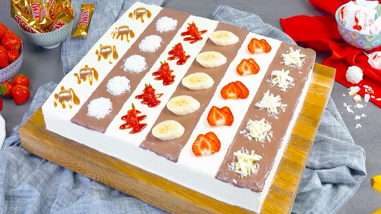Gefüllter Blechkuchen mit Buttercreme