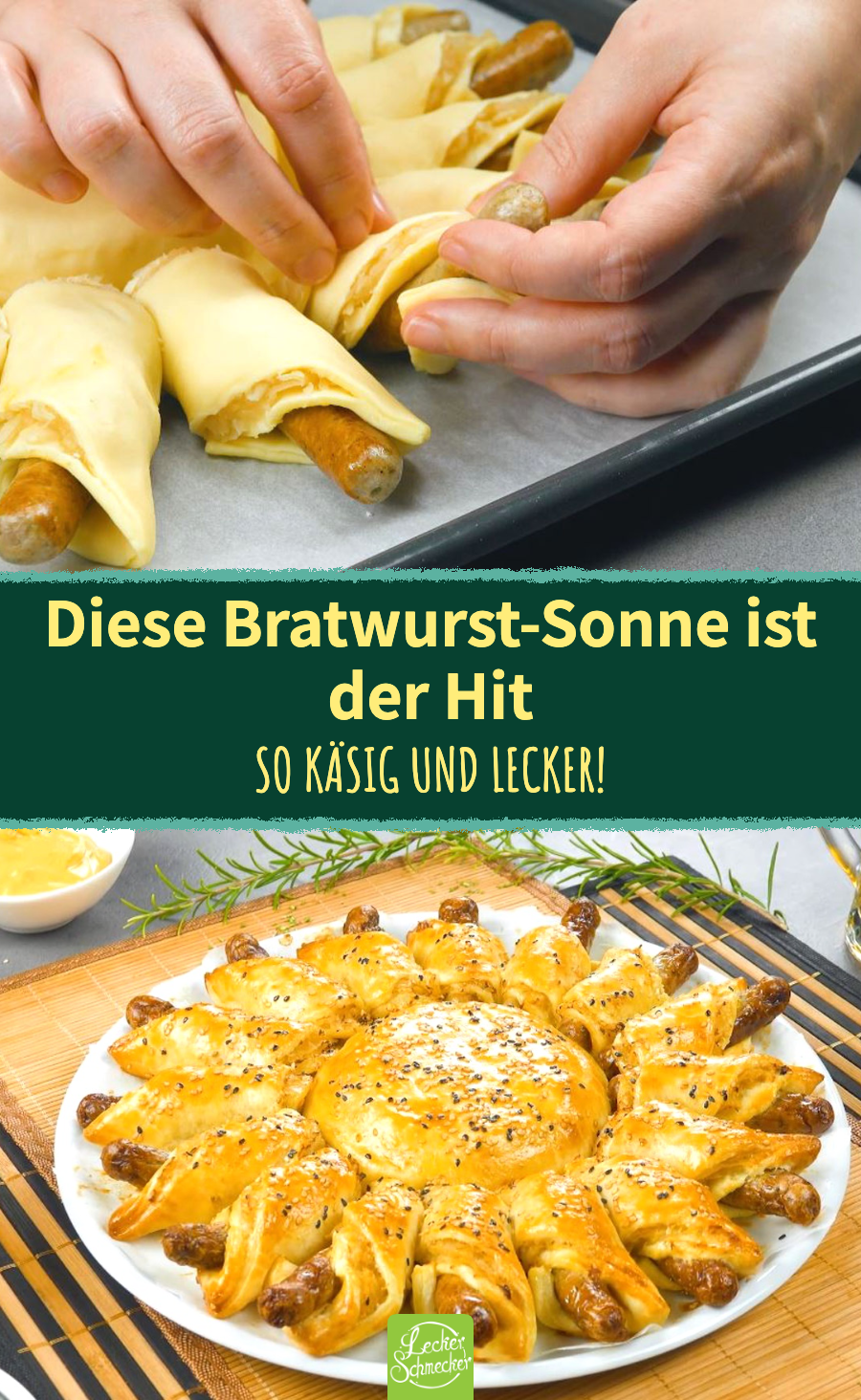 Diese Bratwurst-Sonne mit Brie und Sauerkraut ist DER Hit