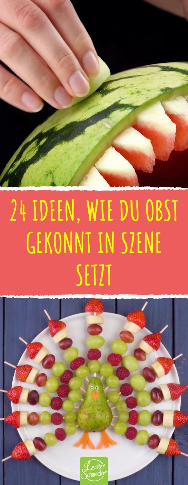 24 Ideen für einen Obstteller | Essen für Kinder | Obst