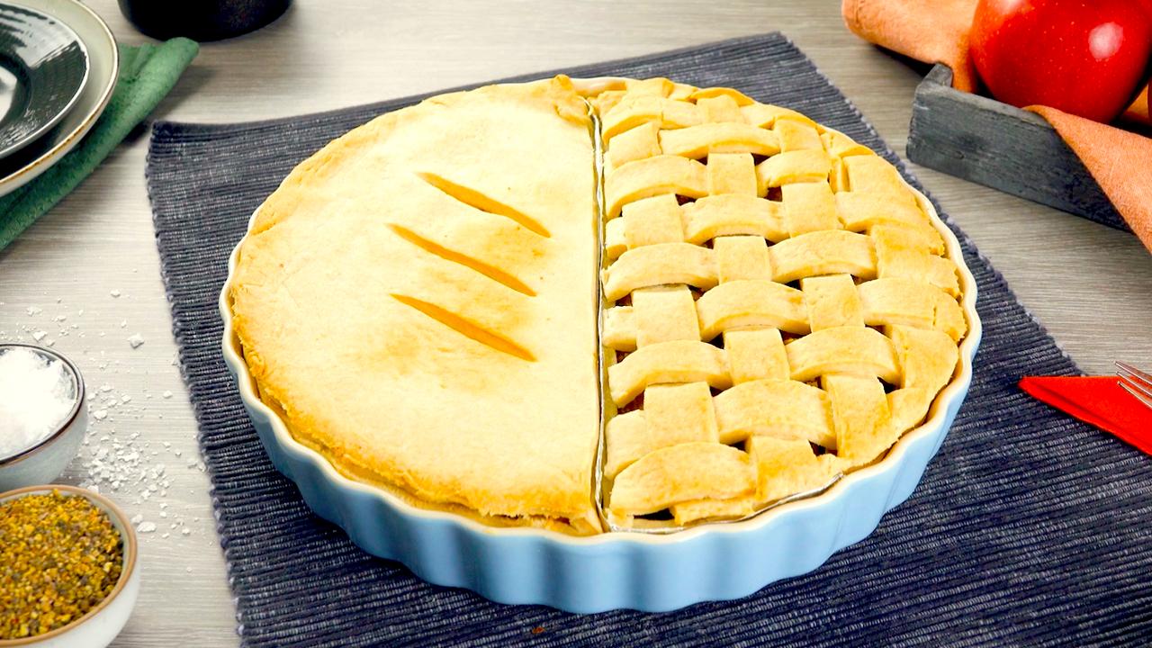 Pie Rezept   Dinner und Dessert aus einer Form