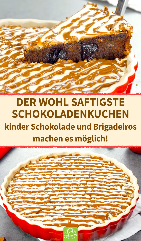 Saftiger Schokoladenkuchen mit kinder Schokolade