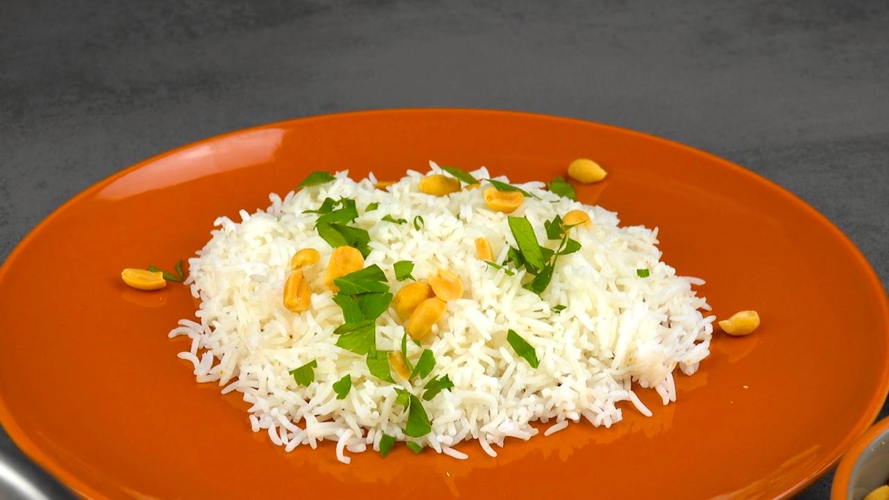 Fertig gekochter Reis