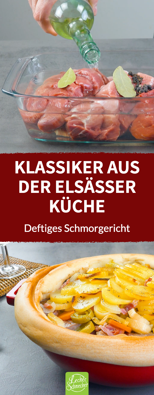 Baeckeoffe | Elsässer Eintopf mit Fleisch und Gemüse