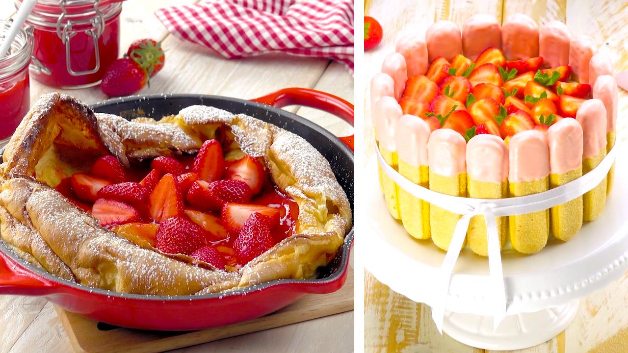 Riesen-Ofen-Pfannkuchen und Erdbeer-Tiramisu-Torte