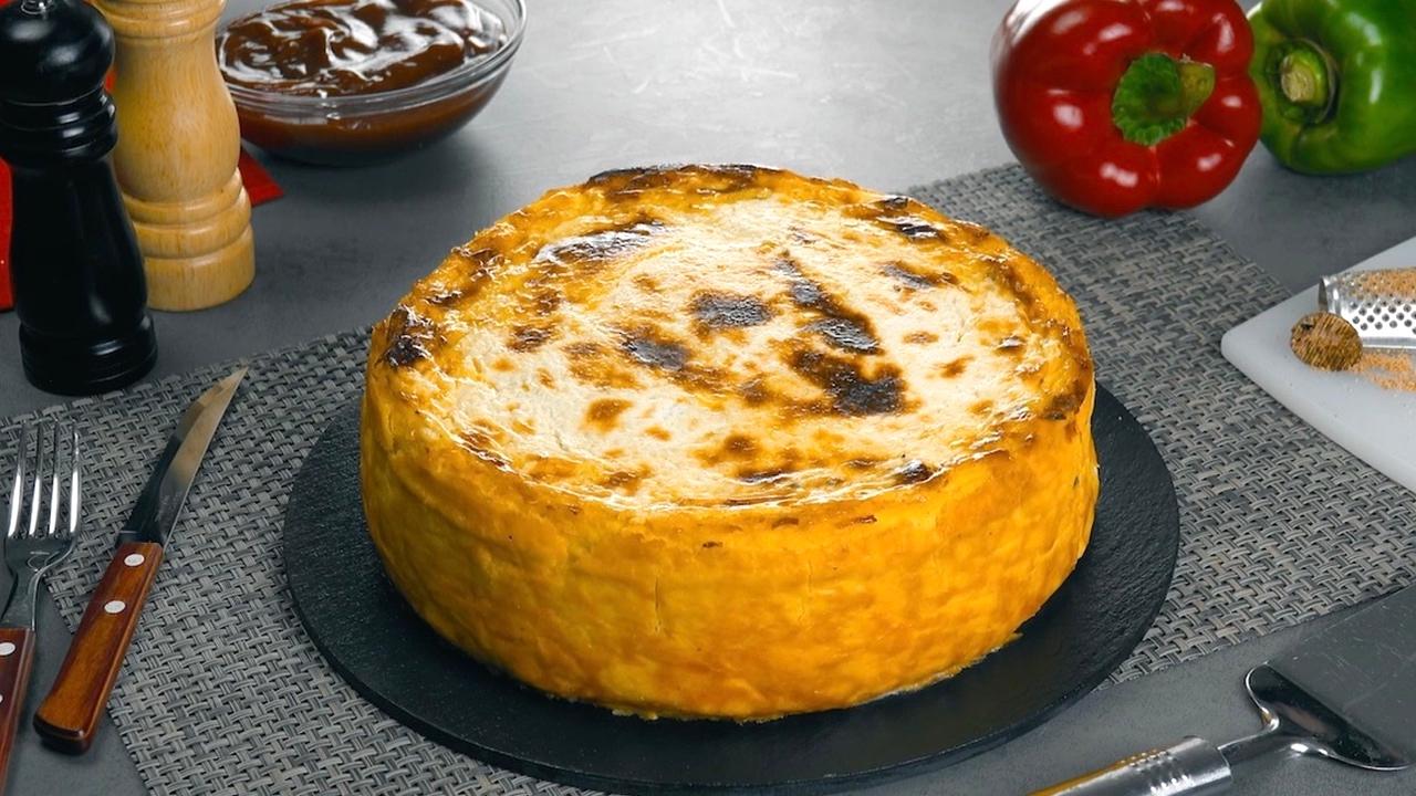 Fertiger Kartoffel Hack Auflauf mit Käse