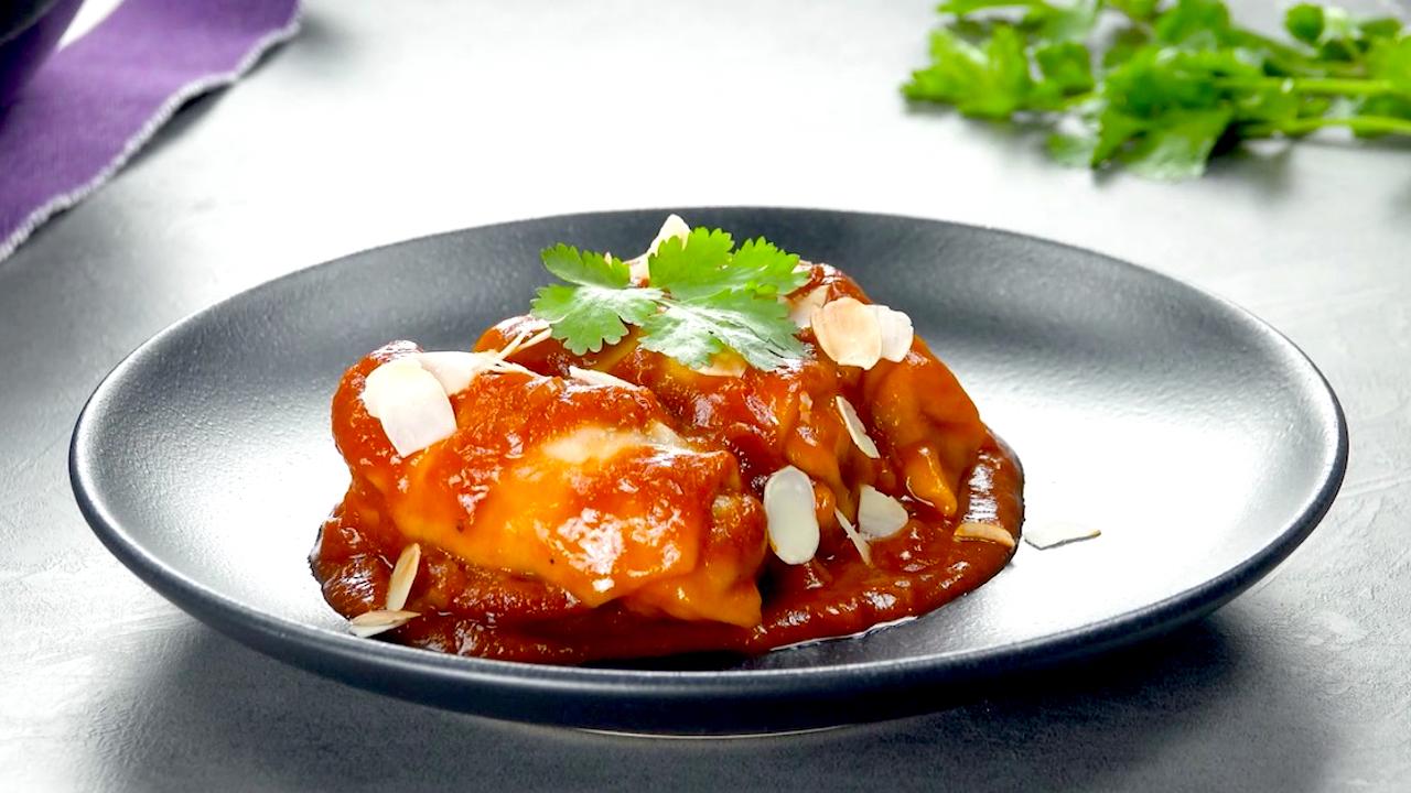 Fertige mit Hackfleisch gefüllte Teigtaschen | One Pot Gerichte